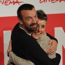 Roma 2013: il regista Alberto Fasulo con la produttrice, e moglie, al photocall del film Tir