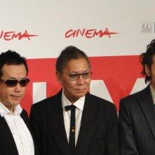 The Mole Song - Undercover Agent Reiji: Takashi Miike con Toma Ikuta ed il fumettista Noboru Takahashi posano al Festival di Roma 2013