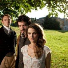 Austenland: Keri Russell con Bret McKenzie e JJ Feild in una foto promozionale