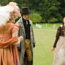 Austenland: Keri Russell con Georgia King e JJ Feild in una scena del film