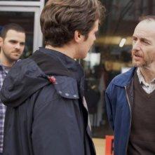 C.O.G.: Jonathan Groff con Denis O'Hare e il regista Kyle Patrick Alvarez sul set