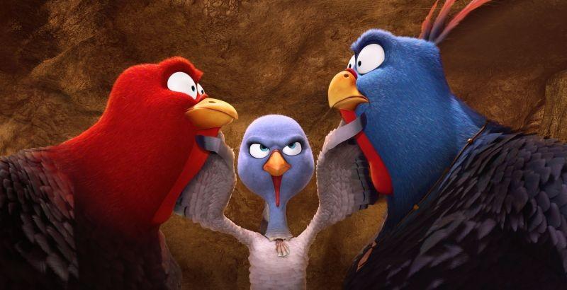 Free Birds - Tacchini in fuga: riunione tra pennuti in una scena del film