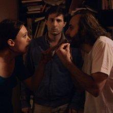 La bataille de Solférino: Vincent Macaigne con in una scena con Arthur Harari e Laetitia Dosch