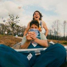 Prince Avalanche: Paul Rudd insieme a Emile Hirsch in una divertente scena del film