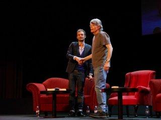 Stephen King a Parigi durante il tour promozionale di Doctor Sleep