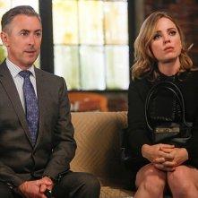 Alan Cumming e Melissa George nell'episodio The Next Month della quinta stagione di The Good Wife