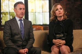 Alan Cumming e Melissa George nell'episodio The Next Month della quinta stagione di The Good Wife