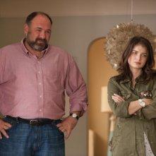 Enough Said: James Gandolfini con Eve Hewson in una scena del film