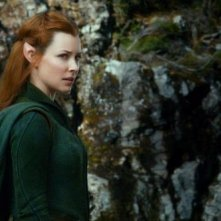 The Hobbit: La desolazione di Smaug, Evangeline Lilly è Tauriel in una scena