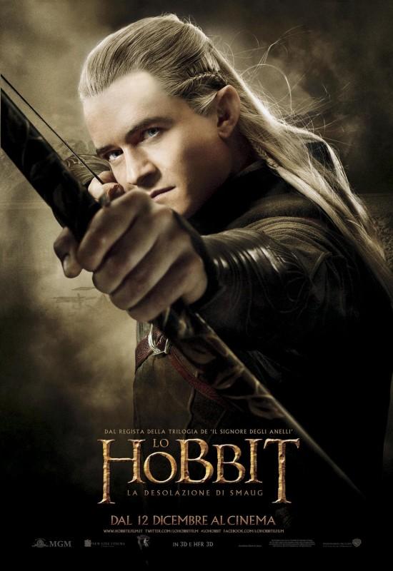 The Hobbit La Desolazione Di Smaug Il Character Poster Italiano Di Orlando Bloom 292783