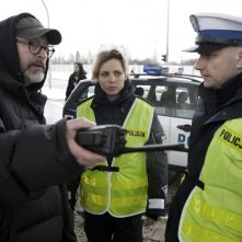 Traffic Department: il regista del film Wojciech Smarzowski sul set con gli attori