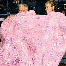 Jennifer Lawrence e David Letterman al Late Show With David Letterman (2013)