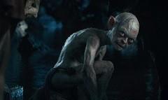 Una scena del film con Gollum