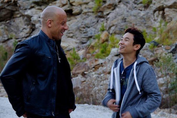 Fast Furious 7 Vin Diesel Sul Set Col Regista James Wan 293371