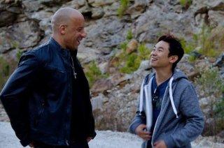 Fast & Furious 7: Vin Diesel sul set col regista James Wan