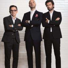 Bruno Barbieri, Carlo Cracco e Joe Bastianich, giudici della terza edizione di Masterchef Italia