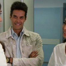 Gabriele De Luca in una scena di Sposami - con lui Francesca Chillemi e Nadia Kibout