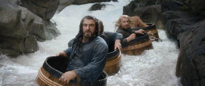 The Hobbit La Desolazione Di Smaug Richard Armitage E Gli Altri Interpreti Galleggiano Grazie A Dei  293638