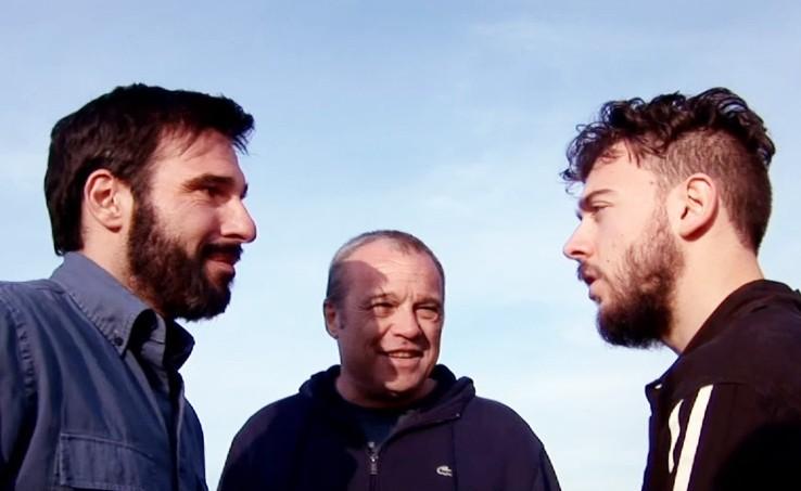 La Mossa Del Pinguino Il Regista Del Film Claudio Amendola Sul Set Con Edoardo Leo 293771