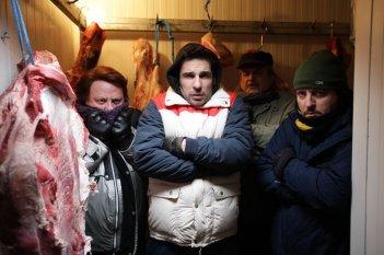 La mossa del pinguino: Ricky Memphis, Antonello Fassari, Edoardo Leo e Ennio Fantastichini in una scena del film diretto da Claudio Amendola