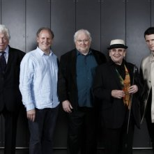 Matt Smith, Sylvester McCoy, Peter Davison, Colin Baker e Tom Baker alla Doctor Who Official 50th Celebration