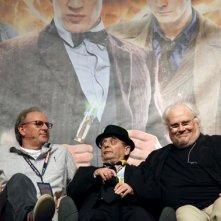 Sylvester McCoy, Peter Davison e Colin Baker alla Doctor Who Official 50th Celebration