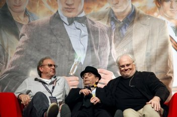 Sylvester McCoy, Peter Davison e Colin Baker alla Doctor Who Official 50th Celebration