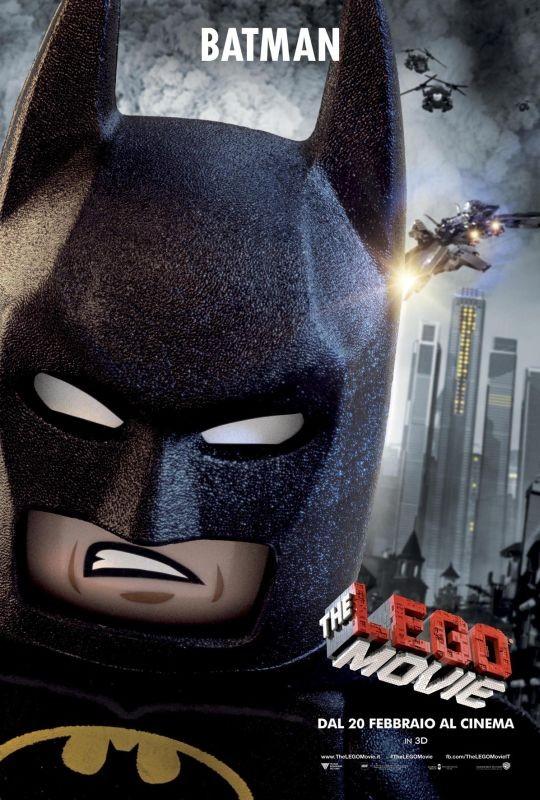 The Lego Movie Il Character Poster Italiano Di Batman 293946