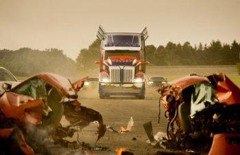 Transformers: Age of Extinction: una scena del film