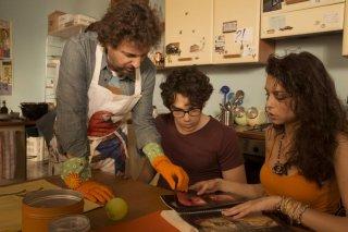 Un fantastico via vai: Leonardo Pieraccioni in una scena del film con Giuseppe Maggio e Marianna Di Martino