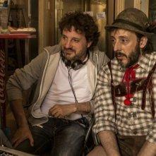 Un fantastico via vai: Leonardo Pieraccioni sul set con Massimo Ceccherini