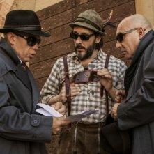 Un fantastico via vai: Massimo Ceccherini con Maurizio Battista e Marco Marzocca in una scena