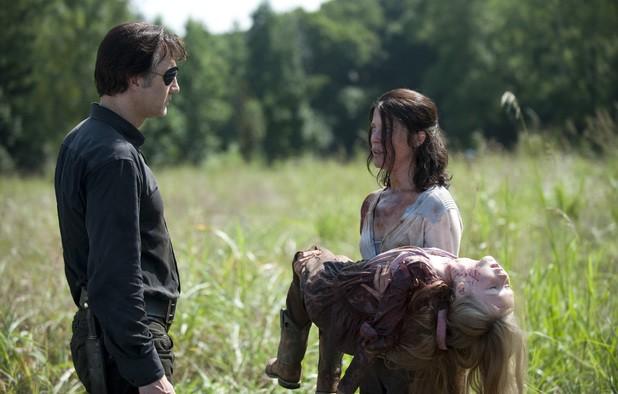 The Walking Dead David Morrissey E Audrey Marie Anderson Nell Episodio Indietro Non Si Torna 294088