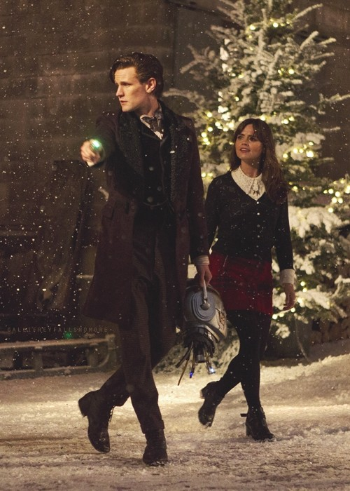 Doctor Who Matt Smith E Jenna Louise Coleman In Una Scena Dello Speciale Natalizio The Time Of The D 294193