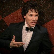 Benedict Cumberbatch in una scena della terza stagione della serie televisiva Sherlock