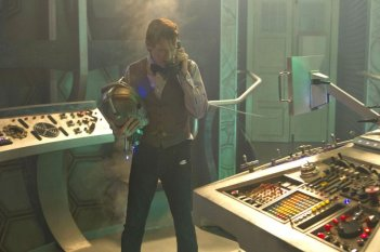 Doctor Who: Matt Smith in una scena dello speciale natalizio The Time of the Doctor