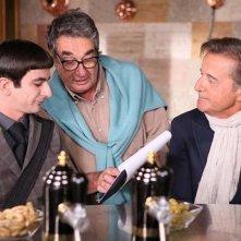 Colpi di fortuna: Christian De Sica con Neri Parenti e Francesco Mandelli sul set