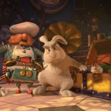 Il castello magico: coniglio agguerrito in una scena del film