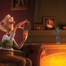 Il castello magico: il simpatico vecchietto del film in una scena fa una delle sue magie