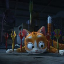 Il castello magico: micione fortunato in una scena del film d'animazione