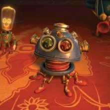Il castello magico: robottini misteriosi in una scena del film