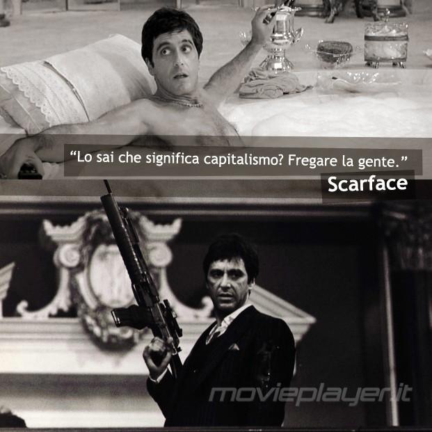 Scarface La Nostra E Card Con Al Pacino E Una Citazione Del Film 294344