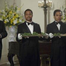 The Butler - Un maggiordomo alla Casa Bianca: Cuba Gooding Jr. con Lenny Kravitz in una scena del film