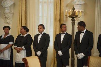 The Butler - Un maggiordomo alla Casa Bianca: Cuba Gooding Jr. in una scena con Forest Whitaker e Lenny Kravitz