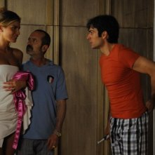 Un boss in salotto: Luca Argentero e Rocco Papaleo in una curiosa scena del film