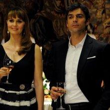 Un boss in salotto: Paola Cortellesi con Luca Argentero in una scena del film