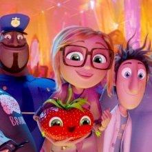 Piovono polpette 2, una scena di gruppo tratta dal cartone animato