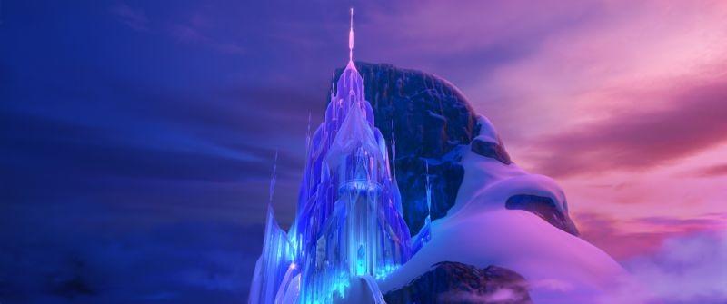 Frozen Il Palazzo Di Ghiaccio In Una Scena Del Film 294652