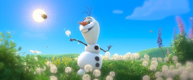 Frozen Olav Il Pupazzo Di Neve In Una Scena 294641