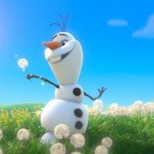 Frozen: Olav il pupazzo di neve in una scena
